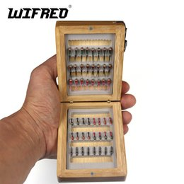 $enCountryForm.capitalKeyWord UK - wholesale 48pcs #14 Midge Nymph B Fly & Brass Bead Head Nymph with Bamboo Case for Trout Whiting Ice Fishing Baits