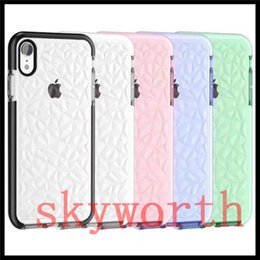 Clear patterned iphone 6s Case online shopping - Diamond Pattern Transparent Clear Crystal Shockproof TPU case for iPhone X XR XS Max Samsung S9 S8 Plus Note8