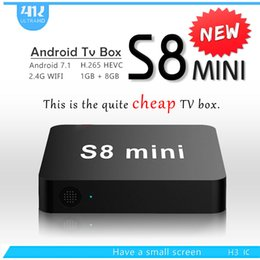 Arabic Iptv Android Tv Box Canada - Cheapest S8 MINI Quad Core Android 7.1 TV Box 1GB 2GB 8GB 16GB Arabic IPTV Media Player