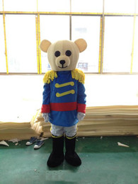 factory uniforms NZ - 2018 A bear in uniform mascot costume cute cartoon clothing factory customized private custom props walking dolls doll clothing