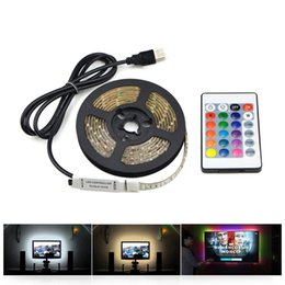 $enCountryForm.capitalKeyWord Australia - 1m 3m 5m IP20 3528 SMD DC 5V USB charger power supply LED strip light RGB remote control USB cable adapter LED lamp Decor light