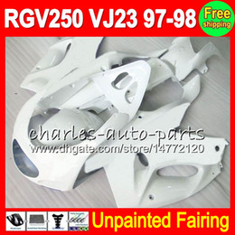 rgv fairings Canada - 8Gifts Unpainted Full Fairing Kit For SUZUKI RGV250 VJ23 97-98 RGV -250 RGV 250 RGV-250 VJ 23 97 98 1997 1998 Fairings Bodywork Body KIT