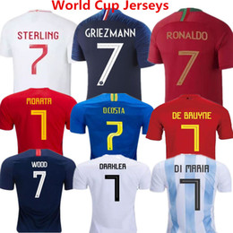 Soccer Jerseys France 2018 Russia World Cup Football Uniforms Englan Brazil  Argentina Japan Belgium camisetas de futbol Nations Spain Man 4ee7e7221