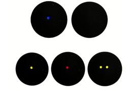 Squash-Profispieler Einzelne Anfänger-Wettkampftraining Squash dauerhafte Ausdehnung doppelter gelber Punkt blauer Punkt roter Punkt
