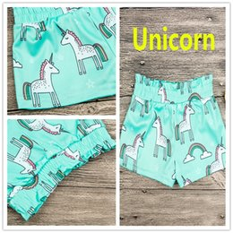 Hottest Girl Short Pants NZ - New Summer Kids Unicorn Full Print Shorts Baby Elastic Waist blue pant Girls Shorts Cartoon Baby Pants Girls Wear Baby clothes 0-4T INS Hot