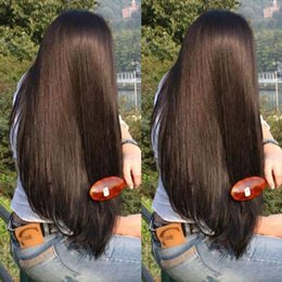 $enCountryForm.capitalKeyWord NZ - Wholesale Silk Straight Natural Black Long Synthetic Lace Front Wigs kanekalon wigs Glueless 1B Color Heat Resistant Hair Wigs