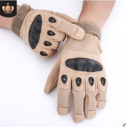 Bicycling Gear NZ - Gear Tactical Combat Army Gloves Men Winter Full Finger Paintball Bicycle Mittens Shell Protect Knuckles Military Gloves