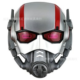 Discount super heroes face masks - Halloween Cosplay Ant Mask Flash Light Warrior Super Hero Masks Comic Stage Decoration Perform Prop Party Favor Supplies