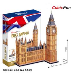 3d papers models 2019 - MC087H Big Ben CubicFun 3D puzzle Diy Paper Model architectural model Papercraft Home Adornment for christmas discount 3