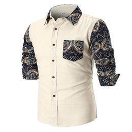 $enCountryForm.capitalKeyWord Canada - Personality Men's Summer Casual Slim Long Sleeve Printed Shirt Top Blouse