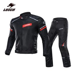 Chinese  Riding suit windproof motorcycle jersey and pants carbon fiber pads riding clothing reflective jackets ropa motocross protecciones moto manufacturers