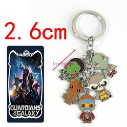 $enCountryForm.capitalKeyWord Australia - Hot!10 Pcs  lot Guardians of the Galaxy phone Keychain Action Figure Pendant Rocket Raccoon Mini Metal Model Key Chains