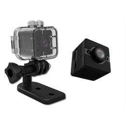 SQ12 Mini Caméra Etanche 1080P HD 30M Sport Plongée DV Caméscope DVR Détection de Mouvement Vision Nocturne Vidéo Enregistreur Vocal