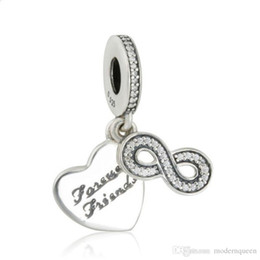 1c03a8747 Forever Charms Canada - 5pcs lot Friend forever charms beads 925 sterling silver  fits pandora style
