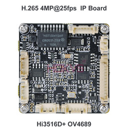 video pcb 2019 - HOKVS H.265 3MP 4MP (2592*1520) IP Module PCB Circuit Board Module Onvif with Hi3516D & OV4689 for Video CCTV Security C
