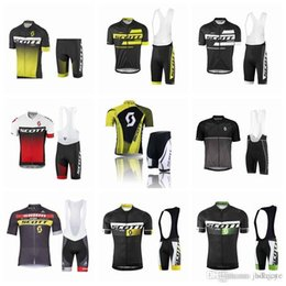 Scott Bikes Canada - SCOTT team Cycling Short Sleeves jersey (bib) shorts sets Bikes Clothes Breathable Quick Dry cycling clothing outdoor F0114