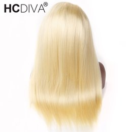 $enCountryForm.capitalKeyWord Australia - Rew Indian Hair #613 Blonde Full Lace Front Human Hair Wigs Pre Plucked Indian Remy Straight Frontal Hair Wigs 150% Density Natural Hairline