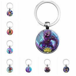 Hot Fortnite Battle Royale Games Keychain Alloy Cool Pendant Personalized Gift Time Gem Key Ring Chain for Unisex Souvenir 10 Styles from lamp camera manufacturers