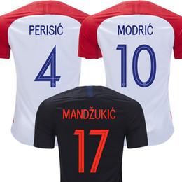 Chinese  2018 MANDZUKIC soccer jersey MODRIC football shirt world cup PERISIC KALINIC RAKITIC KOVACIC Camiseta de futbol home away maillot manufacturers