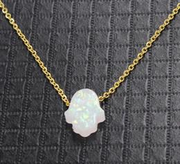 Black Hand Pendant Australia - Hot sale Design Luck Hamsa Hand Pendants Necklace Luck Fatima Hand Palm Statement Necklace collares Wholesale Free Shipping