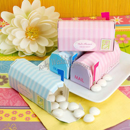 Baby Gift Delivery NZ - 50PCS Speical Delivery Mailbox Favors Boxes Baby Shower Wedding Party Sweety Holder Gift Package Little Things Gift Boxes