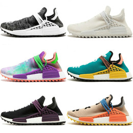 cd80dd294 Hot Sale Human Race Factory Yellow Red Black Orange Men Pharrell Williams X Human  Race Running Shoes Sport Athletic Sneakers US5.5-11