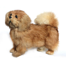 $enCountryForm.capitalKeyWord UK - Dorimytrader cuddly likelike animal Pekingese plush toy stuffed soft relistic poodle toy pet dog decoration gift 20x26cm DY80009