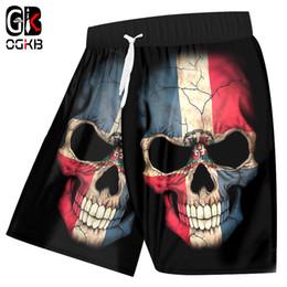 db131816e4 OGKB Mens Board Shorts Summer Cool Print Flag Skull 3d Bermuda Beach Shorts  Man Hiphop Streetwear Punk Drawstring Trousers 5XL