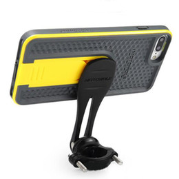 MOTOWOLF Motorrad Motorrad 180 Grad Rotation Telefon Halterung mit Handytasche Auto Supprt Halter für iPhone 6 7 Plus