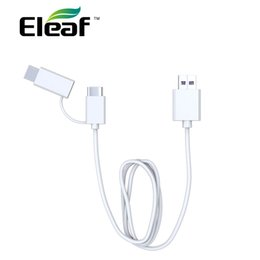 Charging Connector Types Australia - 1pc Eleaf QC 3.0 USB Charging Cable with Type-C connector  Micro USB adapter E cig Charging Cable