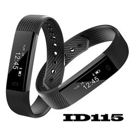 $enCountryForm.capitalKeyWord Australia - ID115 Smart Bracelet Fitness Tracker Step Counter Activity Monitor Band Alarm Clock Vibration Wristband for iphone Android phone