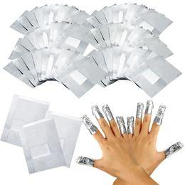 1000 шт. / лот алюминиевой фольги ногтей замочить от акриловые гель для удаления обертывания