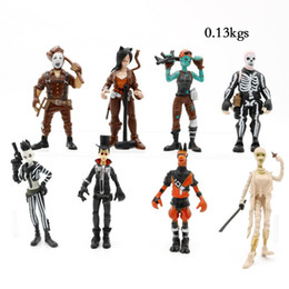 Skeleton figureS online shopping - Style Fort nite Plastic Doll toys New kids cm Cartoon game llama skeleton role Action Figures Kids Toy