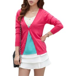 $enCountryForm.capitalKeyWord Canada - Spring Summer New Sweater Women Wild Slim V-neck Sweaters Female Cardigan Shawl Jacket Air Conditioning Shirt Vestidos LXJ047