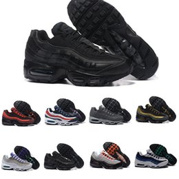 Chinese  2017 Men 95 OG Cushion Navy Sport High-Quality Chaussure 95s Walking Boots Men casual Shoes Cushion 95 Sneakers Size 40-46 manufacturers