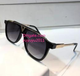 Shiny aluminum online shopping - 2018 hot selling Luxury Sunglasses Retro Vintage Men Designer Sunglasses Shiny Gold Summer Style Laser Logo Gold Plated