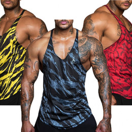 Quick Dry Shirts For Men Australia - 12 Colors Mesh Cloth Quick Dry 2017 Singlets Camouflage Tank Tops Shirt Bodybuilding Equipment Fitness Men's Golds Gym Stringer For Man