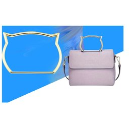 diy cat bag 2019 - 10pcs lot High Quality Cute Cat Ear Metal Bag Handle Replacement DIY Shoulder Bags Making Handbag clutch handle free shi