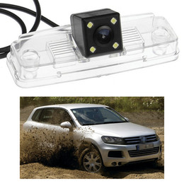 rear camera for car vw Canada - New 4 LED Car Rear View Camera Reverse Backup CCD fit for VW Touareg 2011-2014 12 13
