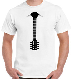 Guitar Electric Acoustic NZ - Guitar Tie - Mens Funny T-Shirt Electric Acoustic Bass