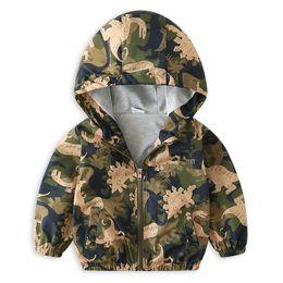 $enCountryForm.capitalKeyWord Australia - 2018 Boys Cartoon Hooded Bomber Jacket Windbreaker Camouflage Dinosaur Coat Outwear Jackets for boy kids age 2 3 4 5 6 years old