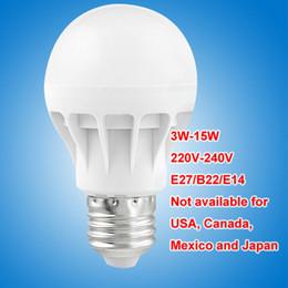 Energy Saving Bulbs B22 Australia - LED bulbs E27 B22 E14 globe Bulbs Lights 3W-15W SMD2835 LED Light bulbs super bright light bulb energy-saving light 220V 230V 240V