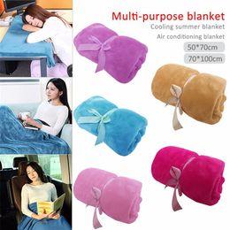 cotton bedsheet wholesaler 2019 - Home Textile Solid Color Soft Throw Blanket Warm Coral Plaid Blankets Travel Flannel Sofa Warm Soft Bedsheet (50*70cm 70