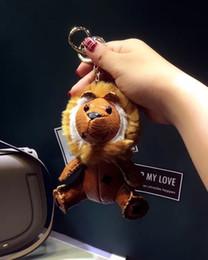 New Charms lion Keychain Fashion Designer borse zaino catena pendente creativo Unisex Pu animale cane zaino coniglio portachiavi regalo