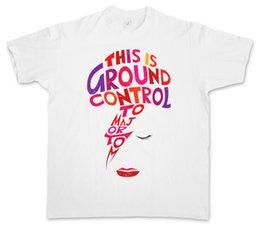 Venta al por mayor de Summer Style Fashion MAJOR TOM CAMISETA Ziggy David Ground Control Bowie Music Stardust Nuevas llegadas Ropa Casual