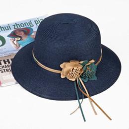1321f6fd Summer Adult Women Large Eaves Sun Hats Foldable Fashion Beach Hat Wind  Rope Fixed Sunscreen Ultraviolet-proof Sun Visor Hats straw large brim visor  ...