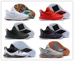 purchase cheap b5a6c 42c4a 2018 NEW Stephen Curry 5 low Chaussures de basket GOLD PACK Homme Sneakers  Pi Day Trainers Chaussures de sport Homme Chaussures de course athlétique