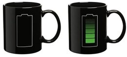 Magical cups online shopping - Eco Friendly Amazing Ceramic Cup Battery Color Changing Mug Cup Ceramic Handgrip Temperature Changing Magical Coffee Mug Gifts