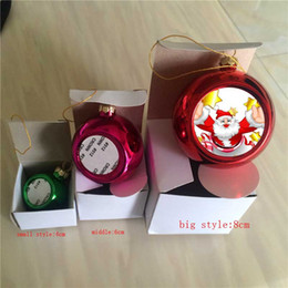 Indoor balls online shopping - sublimation christmas Ornaments ball personalized blank consumables supplies heart transfer printing DIY material new xmas style