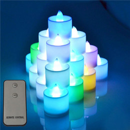 flameless candles remote Australia - Changing 12 Color LED Electronic Flameless Smokeless Candle Light Remote Control